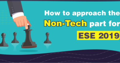 How to approach the Non-Tech part for ESE 2019?