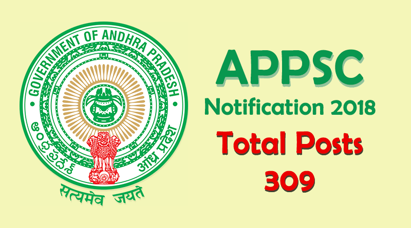 APPSC Notification 2018