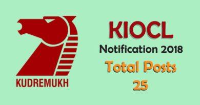 KIOCL Recruitment 2018