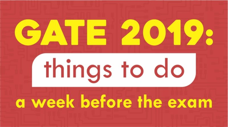 GATE 2019: Things to Do a Week Before the Exam