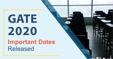 GATE 2020 Exam Dates Released