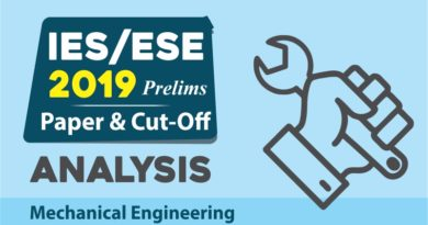 IES/ESE 2019 Prelims CUT-OFF Analysis - Mechanical Engineering
