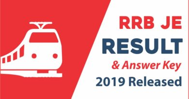 RRB JE Results 2019 and Answer Key