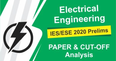 IES/ ESE 2020 Prelims Electrical Engineering paper and Cut-Off Analysis