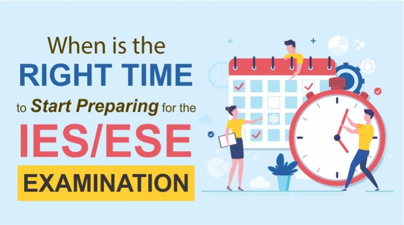 When is the right time to start preparing for the ESE/IES Examination?
