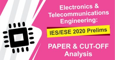 Electronics & Telecommunications Engineering: IES/ ESE 2020 Prelims   PAPER and CUTOFF Analysis